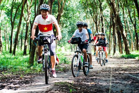 Cu Chi Tunnels tour by boat and bicycle