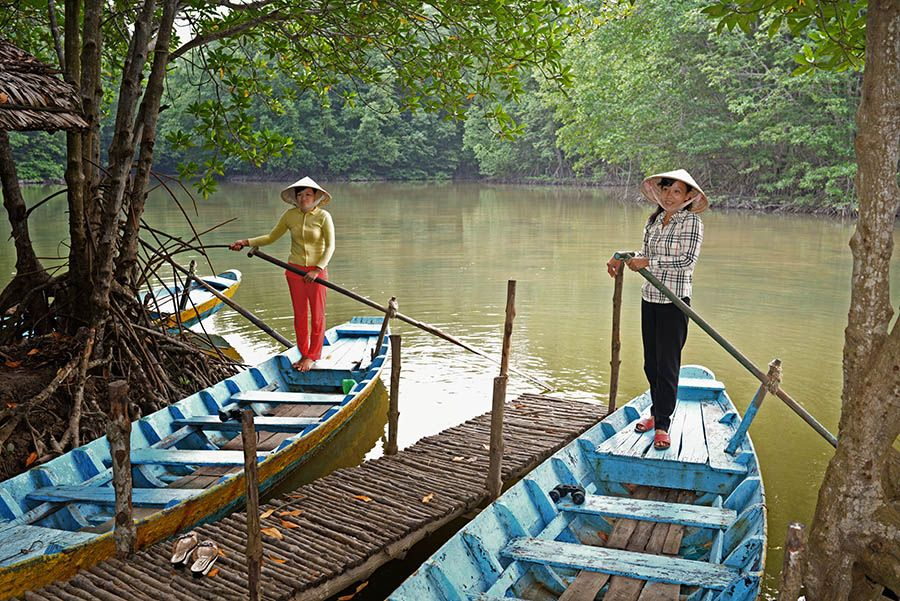 Rowling Boat in Can Gio Forest Tour