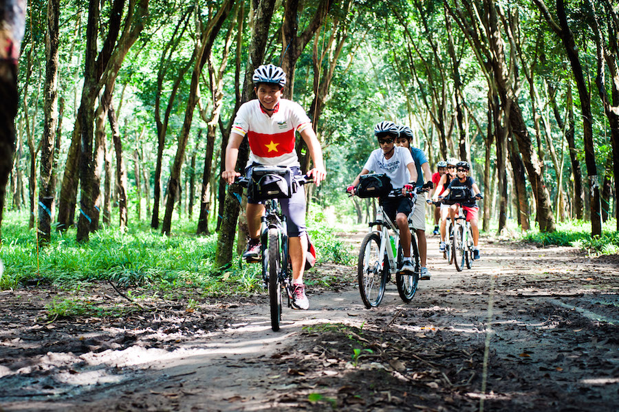 Cu Chi Tunnels by boat and bicycle
