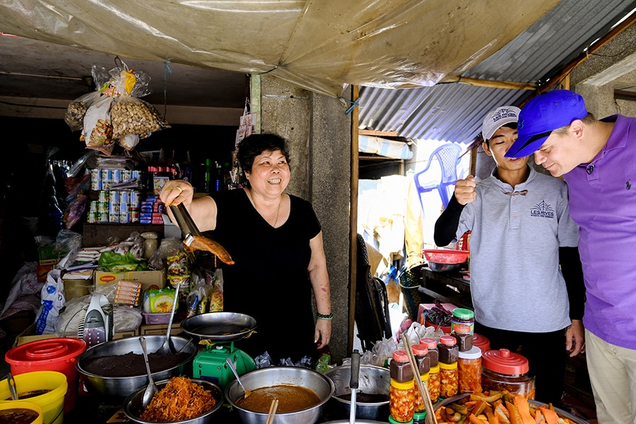 Local market in the Mekong Delta