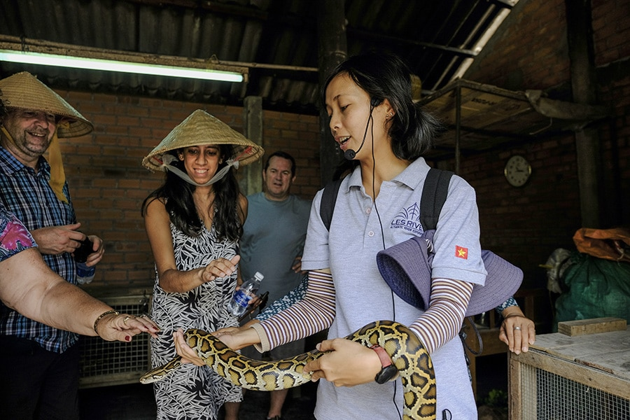 Visit local family in Mekong Delta