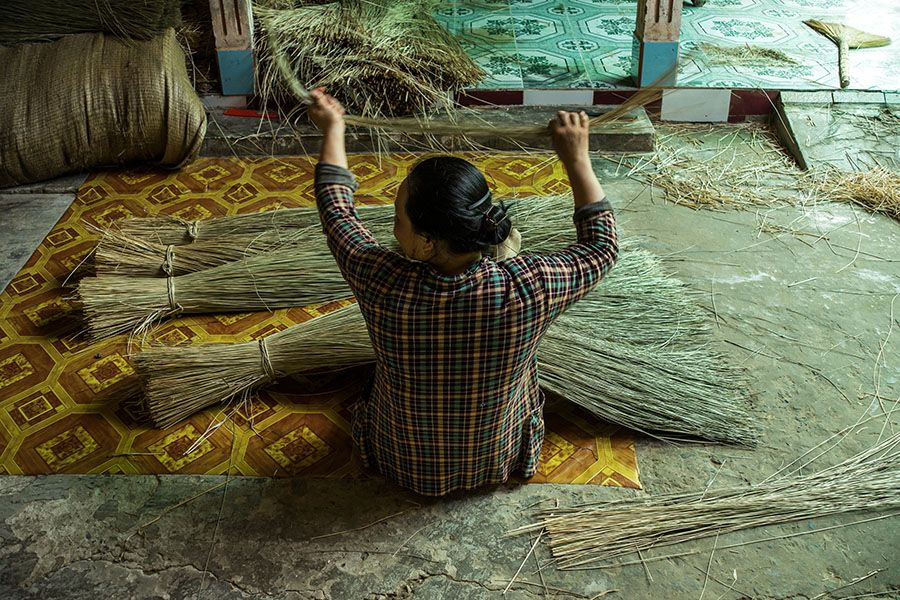 Sedge mat Workshop in Mekong Delta