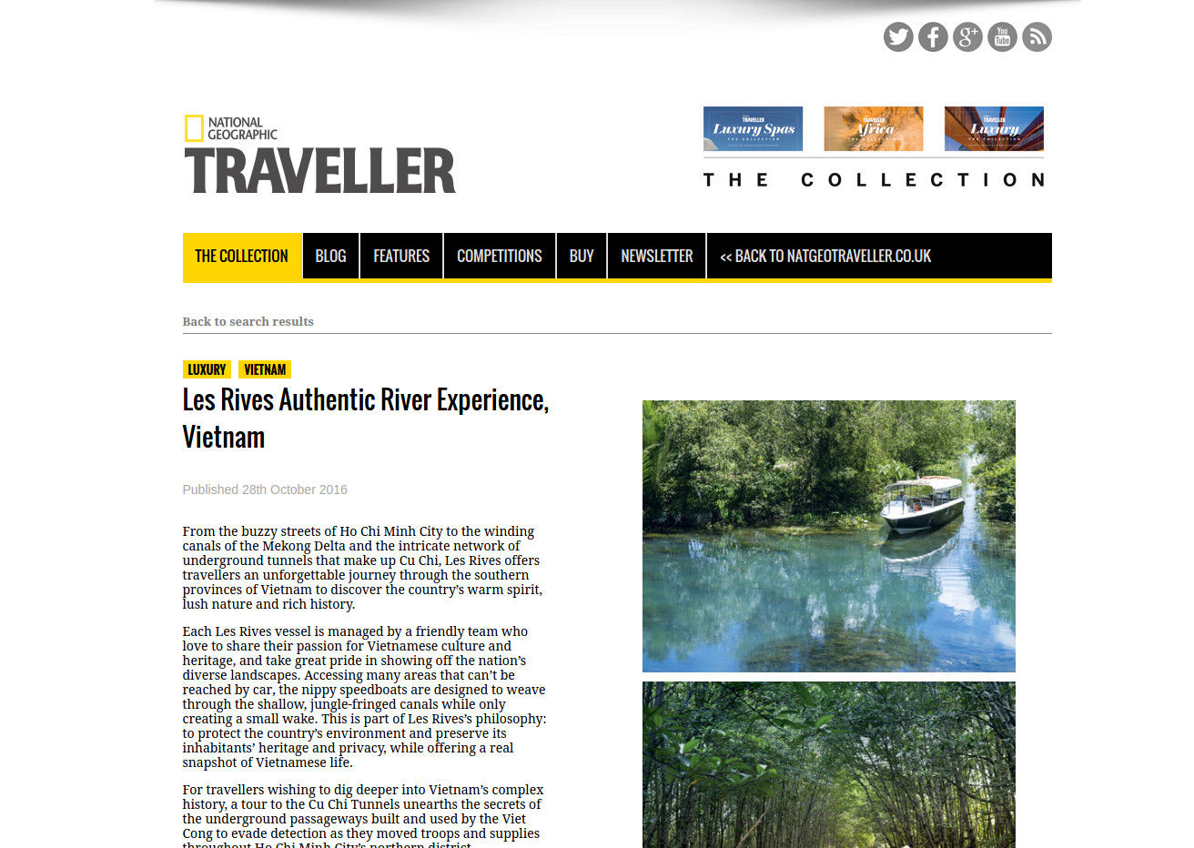 National Geographic Traveller feature Les Rives