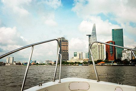 Saigon River view from boat