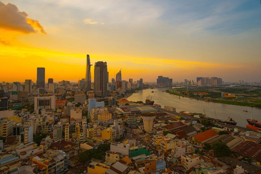 Saigon River during Sunset
