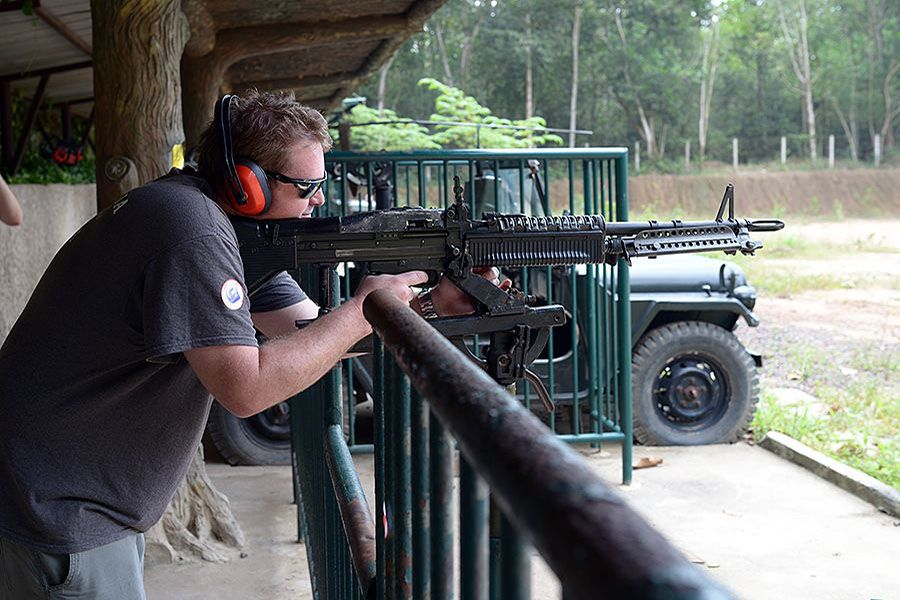 Shooting range in Cu Chi Tunnels