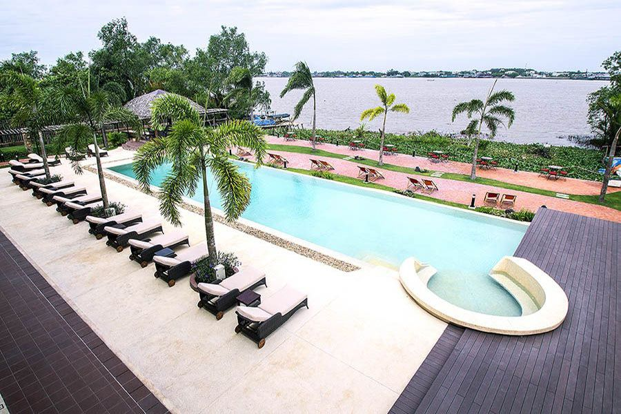 The island lodge hotel at Mekong Delta tour
