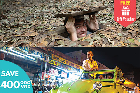 Cu Chi Tunnels and Saigon 2CV Car
