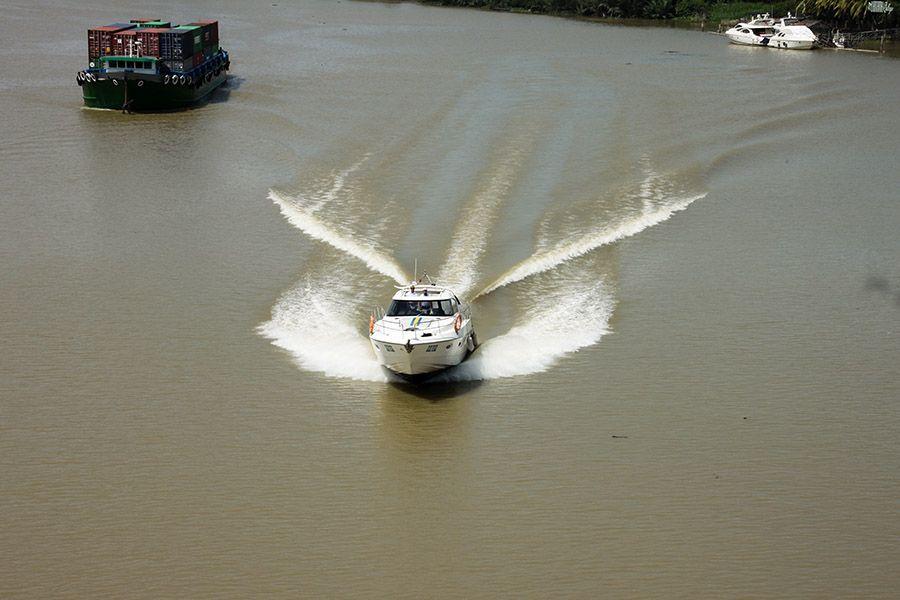 Yacht on Saigon River