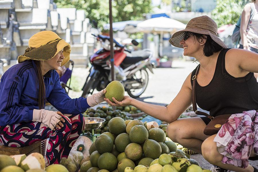 local market in mekong delta