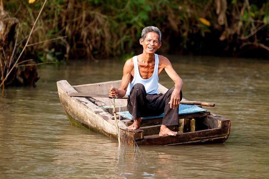 Mekong Delta fisherman