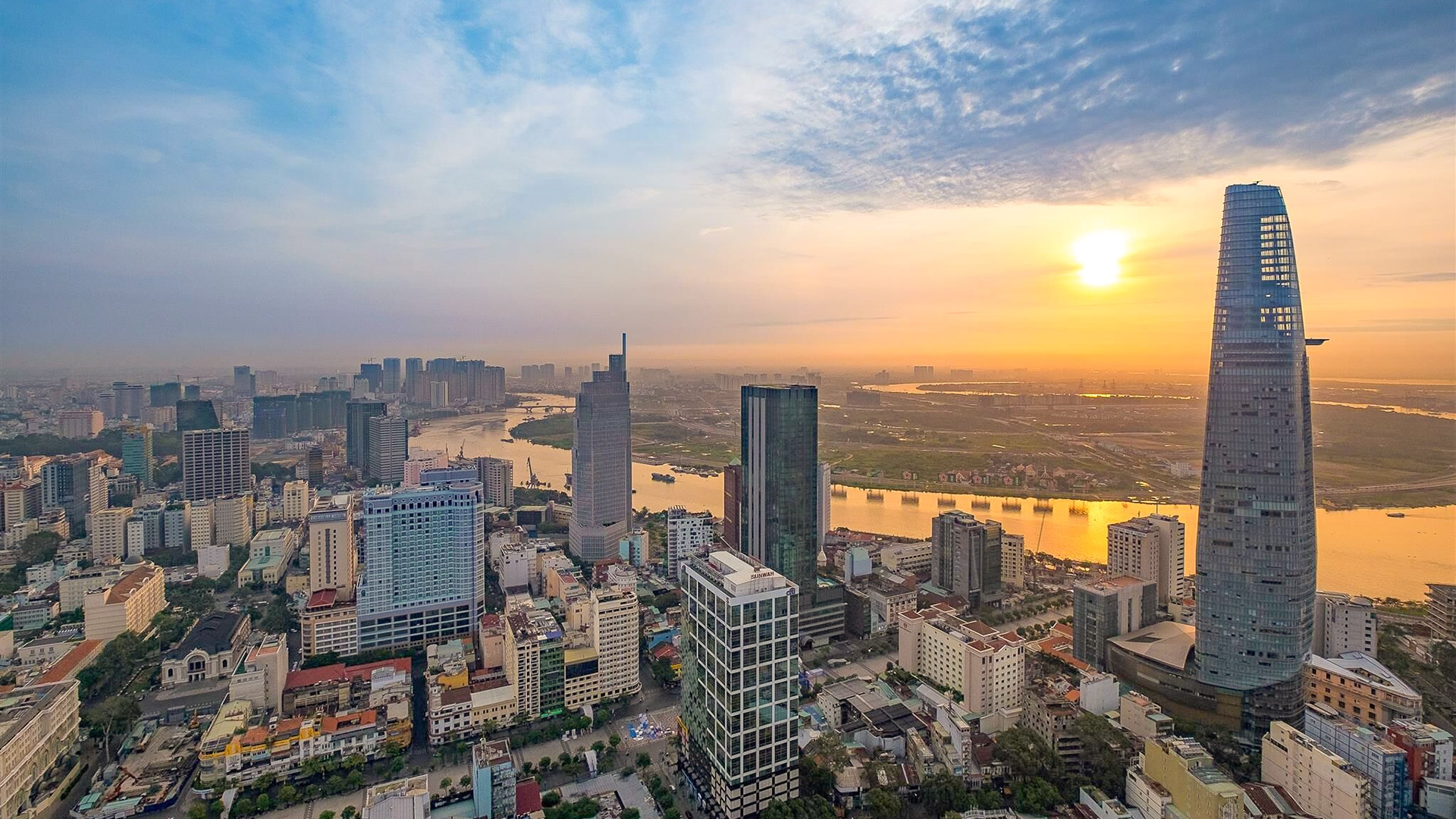 Sunset View on Saigon River