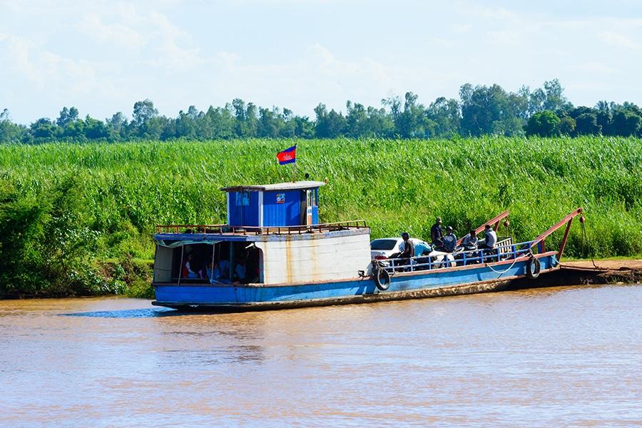 Ferry in Cambodia