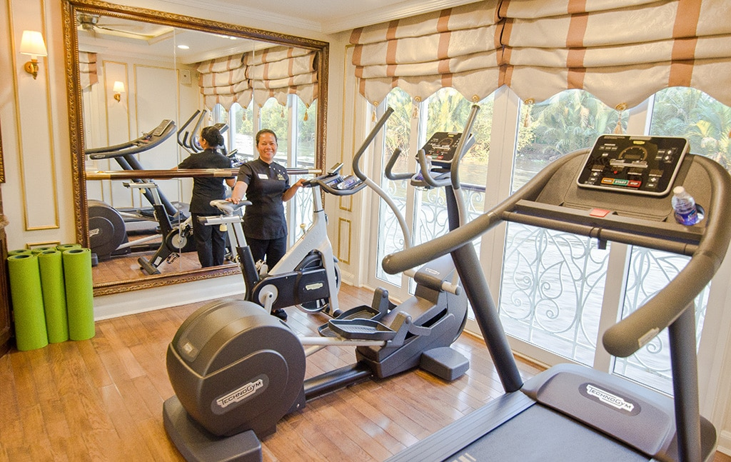 Fitness Center on Mekong River Cruise