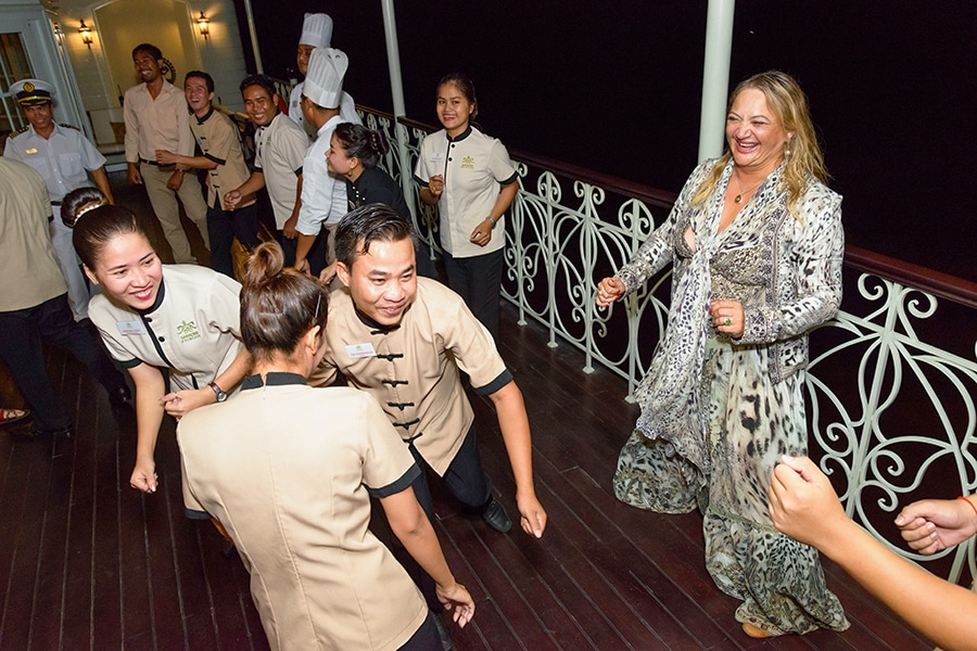 Farewell reception on Mekong River Cruise