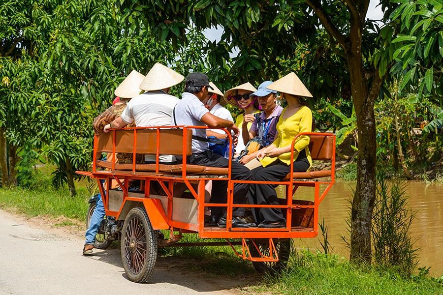 Xe loi in Mekong Delta